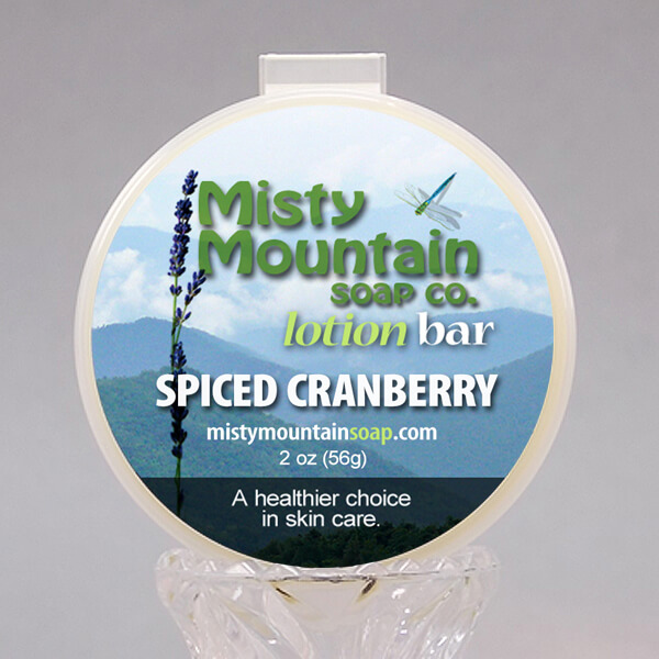 spiced cranberry lotion bar